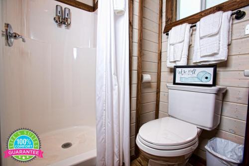 A bathroom at Life's Suites