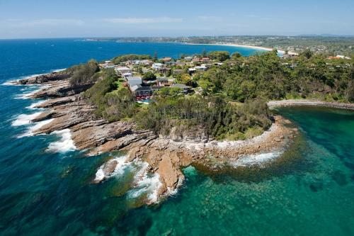 A bird's-eye view of Bannisters by the Sea Mollymook