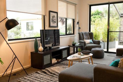 TV/Unterhaltungsangebot in der Unterkunft Hilltop Apartments Phillip Island