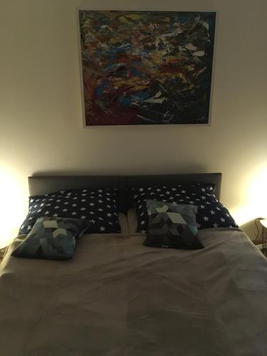 Łóżko lub łóżka w pokoju w obiekcie Apart Modra 92a