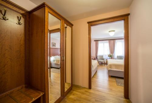 A bathroom at Hotel Cerny Slon