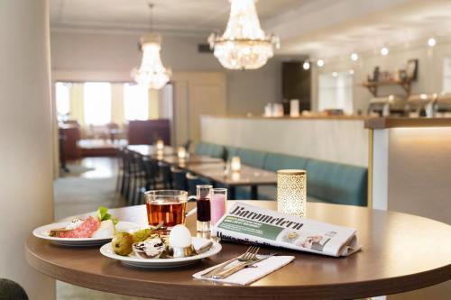 En restaurang eller annat matställe på Calmar Stadshotell
