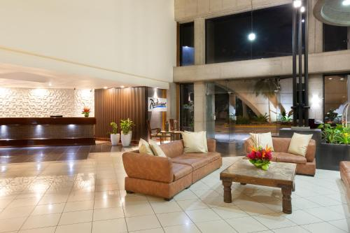 The lobby or reception area at Radisson Hotel San Jose - Costa Rica