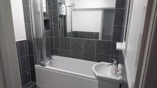 A bathroom at Naomi HQ