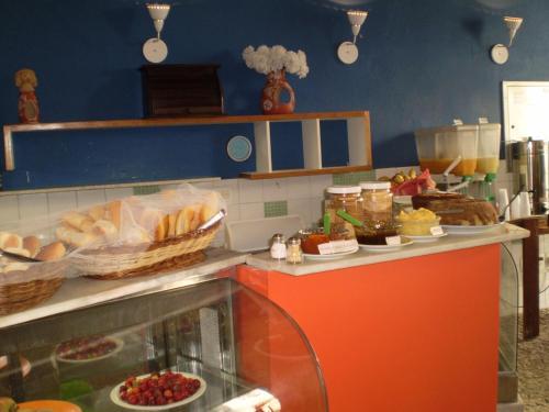 A kitchen or kitchenette at Laranjeiras Hostel