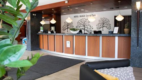 The lobby or reception area at Hotel Haaga Central Park