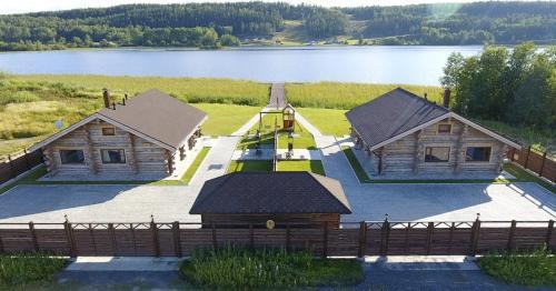 Freegreen cottages с высоты птичьего полета