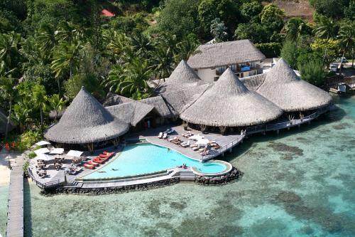 A bird's-eye view of Sofitel Bora Bora Marara Beach Resort