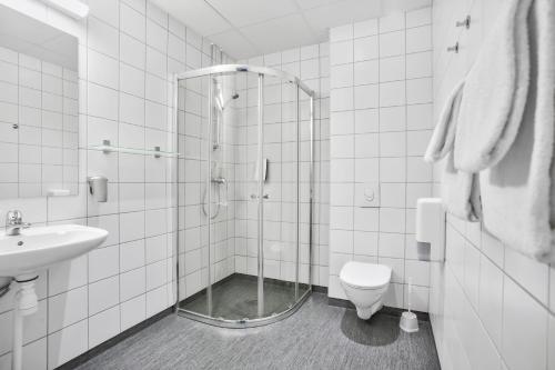 A bathroom at Saga Hotel Oslo Central
