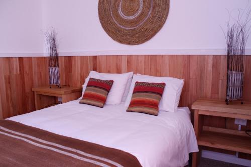 Cama o camas de una habitación en Hotel Aquaterra