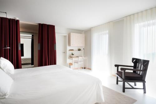 Uma cama ou camas num quarto em Casa de São Lourenço - Burel Mountain Hotels