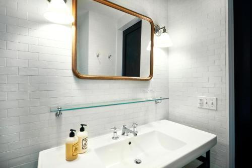 A bathroom at Wythe Hotel