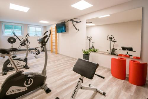 The fitness centre and/or fitness facilities at Parkhotel Diani