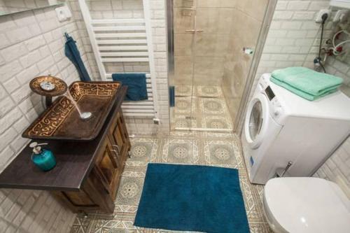 Koupelna v ubytování Prague EIA Centre Apartments