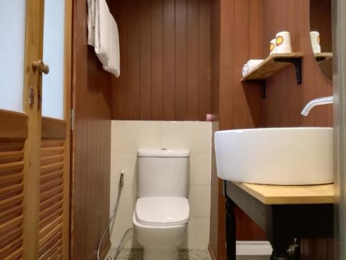 A bathroom at Big Smile