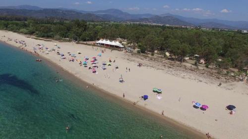 A bird's-eye view of Campeggio Villaggio Sos Flores