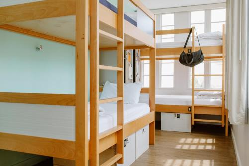 A bunk bed or bunk beds in a room at The Quisby
