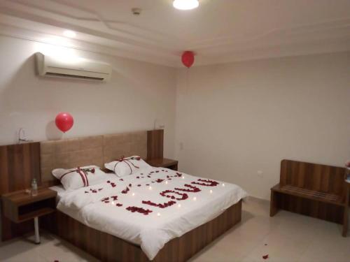 Cama ou camas em um quarto em Al Masah Al Thahabia