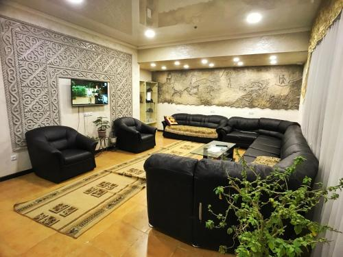 Coin salon dans l'établissement Apple Hostel Bishkek