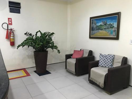 A seating area at Hotel Monólitos