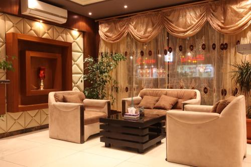 O saguão ou recepção de Taleen AlSulaimanyah hotel apartments