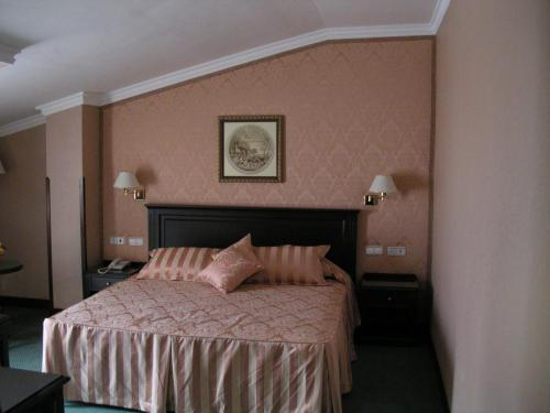 A bed or beds in a room at Santiago