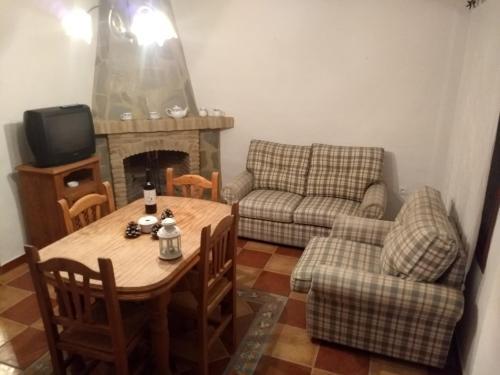 Zona de estar de Apartamentos Rurales Mirador de Jubrique