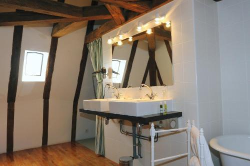 A bathroom at Château De La Bourdaisière