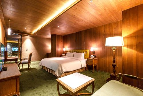 薆悅酒店五權館 房間的床