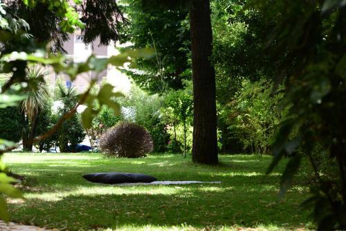 A garden outside Silva Hotel Splendid