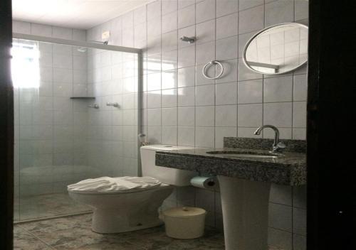 Um banheiro em Hotel Rafeli