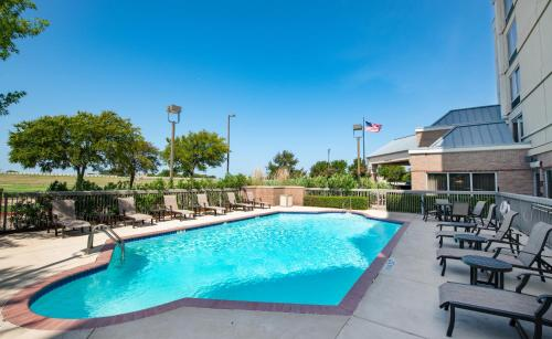 The swimming pool at or near Hampton Inn & Suites North Fort Worth-Alliance Airport