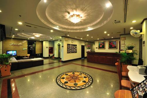 The lobby or reception area at Thipurai City Hotel