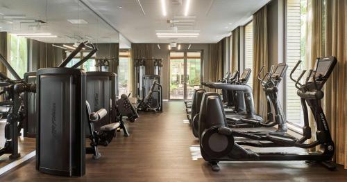 Het fitnesscentrum en/of fitnessfaciliteiten van Hyatt Regency Amsterdam