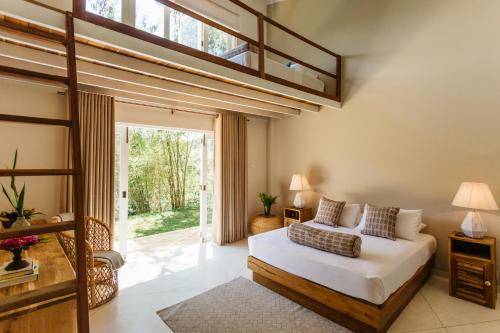 A bed or beds in a room at Rukgala
