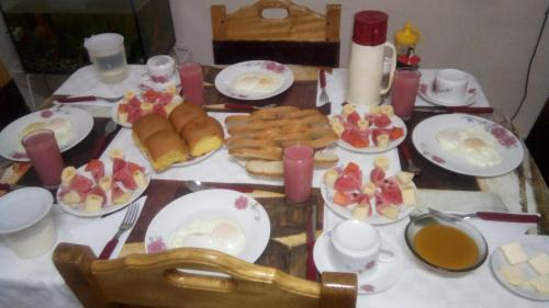 Breakfast options available to guests at Villa Duque