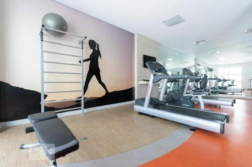 The fitness center and/or fitness facilities at Flat Piemonte