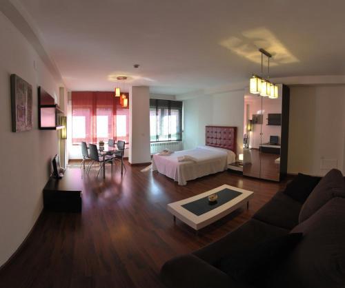 Zona de estar de Apartamentos Turisticos Veladiez