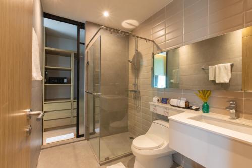 Ein Badezimmer in der Unterkunft Sanae' Hotel Chiang Mai