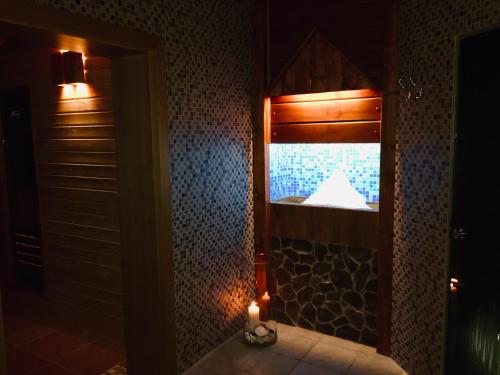 A bathroom at Horský hotel Hájenka
