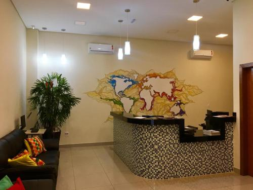 The lobby or reception area at Tapera Hostel