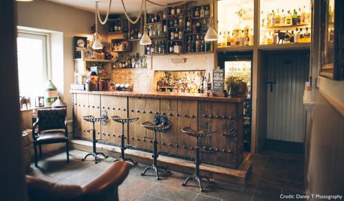 The lounge or bar area at Widbrook Grange