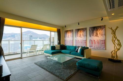 A seating area at Hakodate Danshaku Club Hotel & Resorts