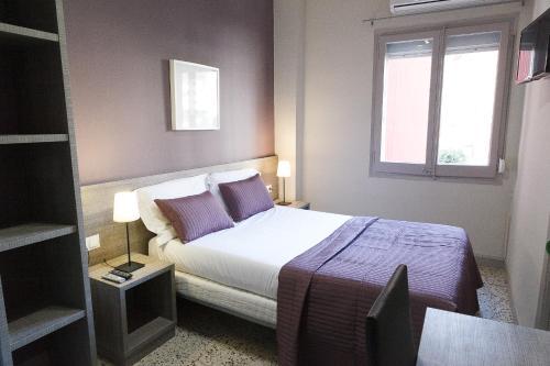 Cama o camas de una habitación en Fonda Montserrat