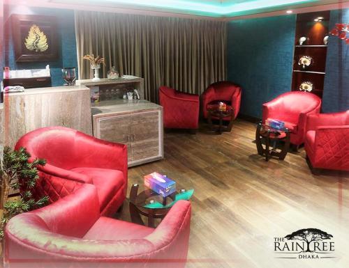 A seating area at The Raintree Dhaka