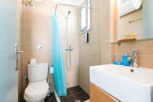 A bathroom at Xenones Lindos