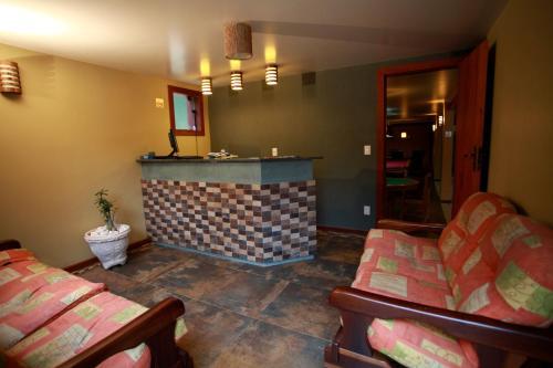 O saguão ou recepção de Eco Resort Serra Imperial