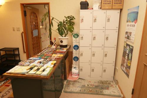 The lobby or reception area at Otaru Ekimae Guest House Ito