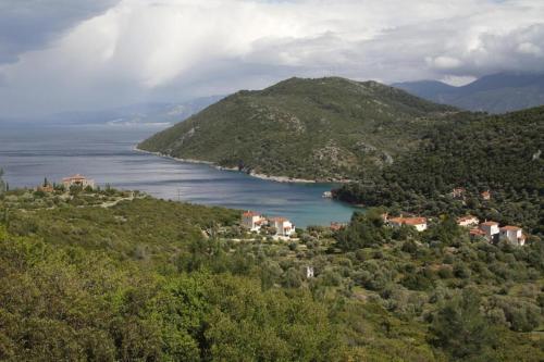 Άποψη από ψηλά του Villa Platanaki