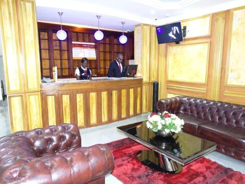 The lobby or reception area at Safyad Hotel